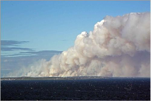 Fire- photo taken from Chebucto Head